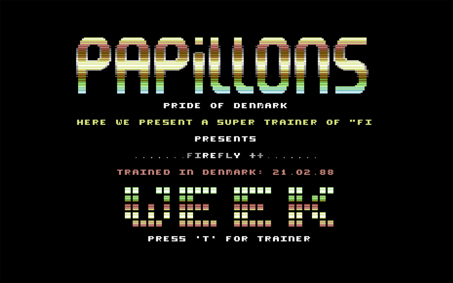Screenshot from: Papillons C64 Intro