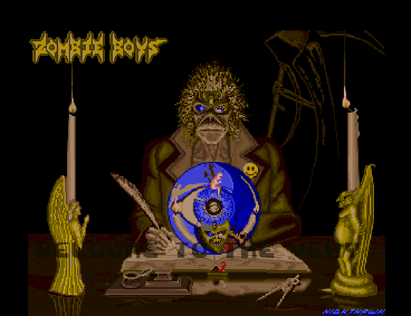 Amiga screenshot: Zombie Boys, Heavy Metal Demo
